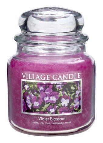Świeca zapachowa Village Candle ŚREDNIA 453 gr - Violet Blossom