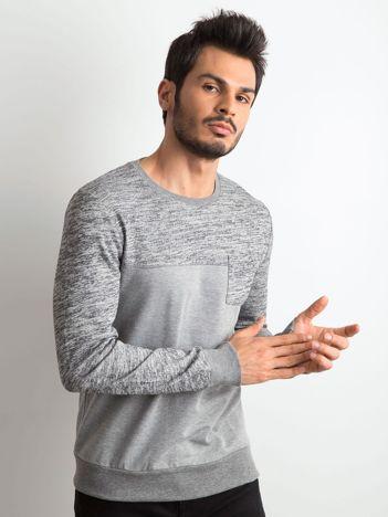 Szara bluza męska z kieszonką