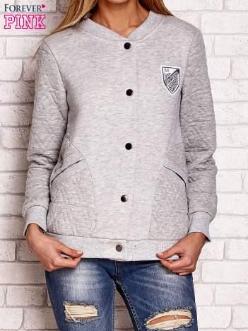 Szara bluza o kroju bomber jacket