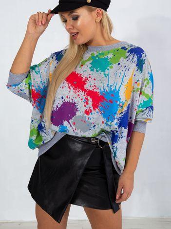 Szara bluza plus size Splash