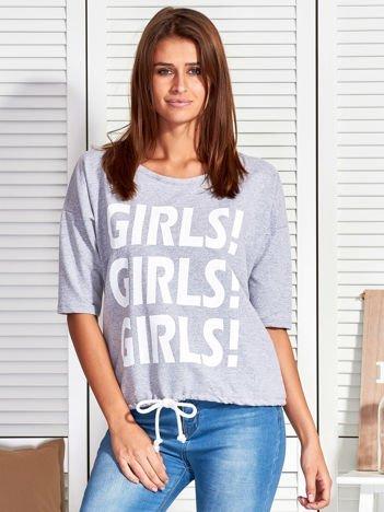 Szara bluzka GIRLS GIRLS GIRLS