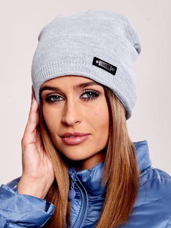 Szara damska czapka beanie