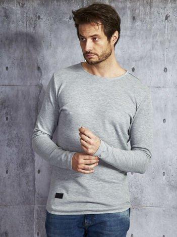 Szara dłuższa bluzka męska