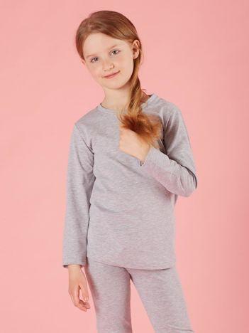 Szara dziewczęca bluzka basic