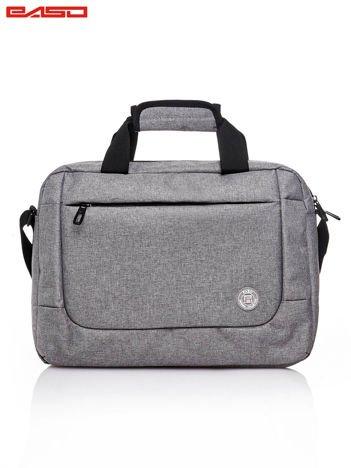 Szara gładka torba na laptopa