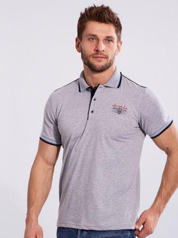 Szara koszulka polo dla mężczyzny