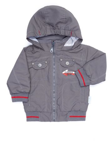 Szara kurtka dla chłopca