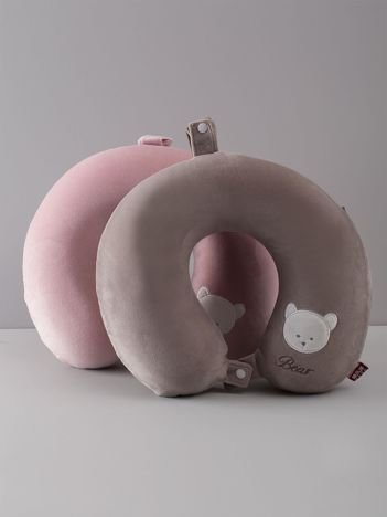 Szara podróżna poduszka