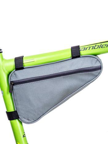 Szara saszetka rowerowa z kieszeniami
