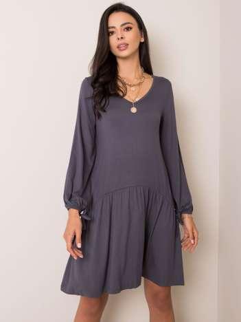 Szara sukienka Luciana RUE PARIS