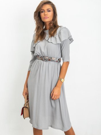 Szara sukienka Nesty