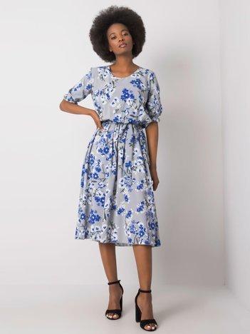 Szara sukienka w kwiaty Harleigh