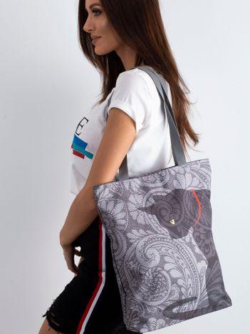 d2263e0d14789 Szara torba materiałowa z kotem