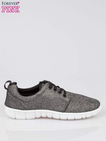 Szare buty sportowe textile Diamonds z metaliczną nitką