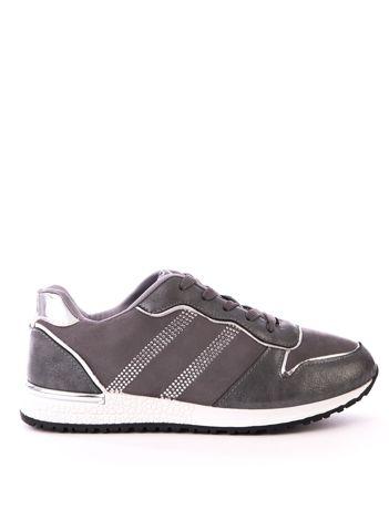 Szare buty sportowe z błyszczącymi dżetami