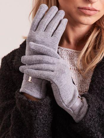 Szare eleganckie rękawiczki