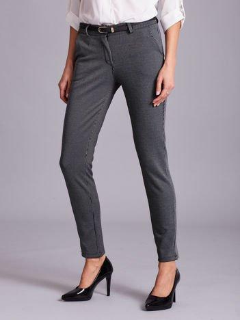 Szare eleganckie spodnie w paski
