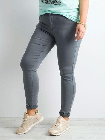 Szare jeansy skinny PLUS SIZE