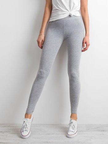 Szare legginsy damskie basic