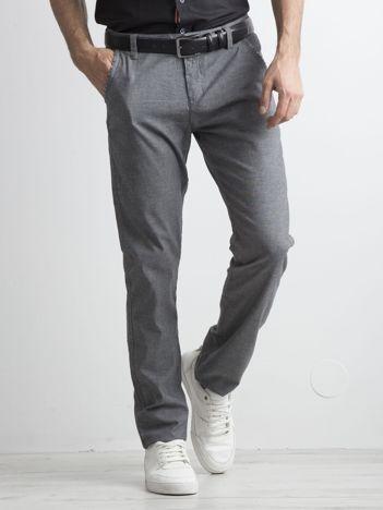 Szare męskie spodnie chinosy