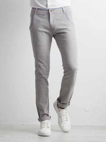 Szare męskie spodnie materiałowe