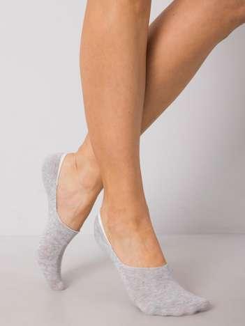 Szare skarpetki stopki z bawełny