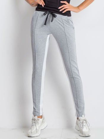 Szare spodnie dresowe Defined