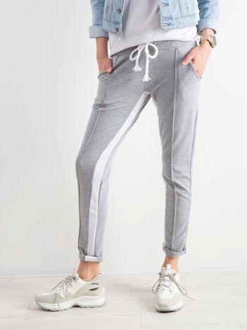 Szare spodnie dresowe damskie