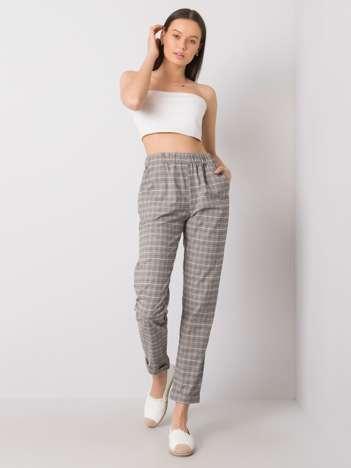 Szare spodnie w kratkę Primrose