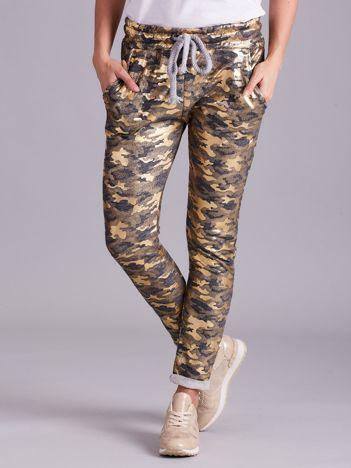 Szare wzorzyste spodnie dresowe