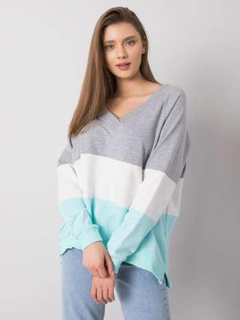 Szaro-miętowa bluza Lotta RUE PARIS