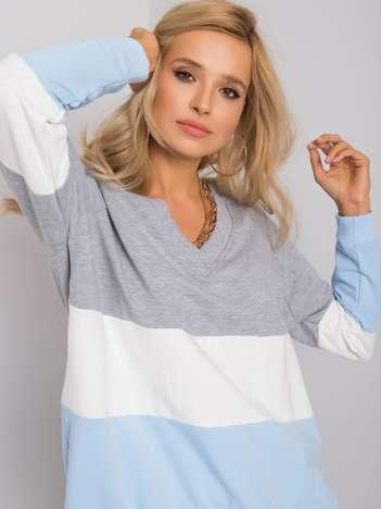 Szaro-niebieska bluza Lotta RUE PARIS