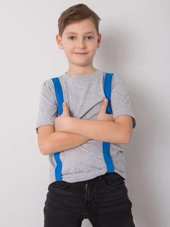 Szaro-niebieski t-shirt dla chłopca DODO KIDS