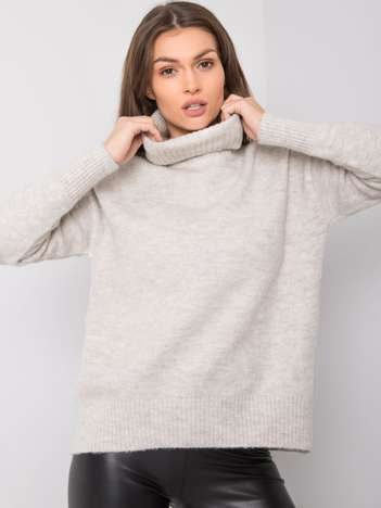 Szaro-srebrny sweter Batiste RUE PARIS