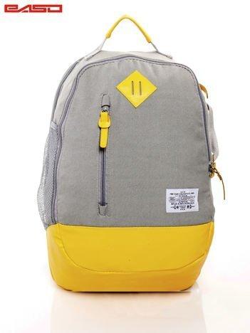 Szaro-żółty plecak szkolny