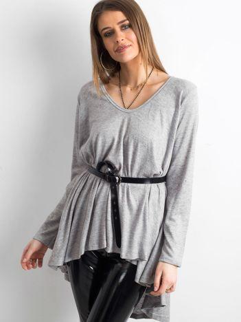 Szary asymetryczny sweter