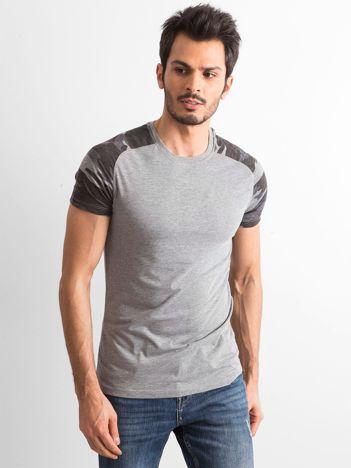 Szary bawełniany t-shirt męski