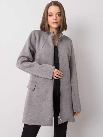 Szary płaszcz Letitia RUE PARIS