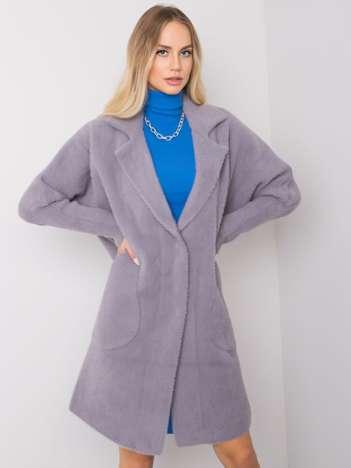 Szary płaszcz alpaka Eveline