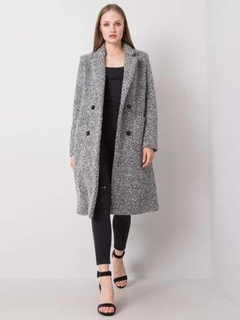Szary płaszcz bouclé Carolyne