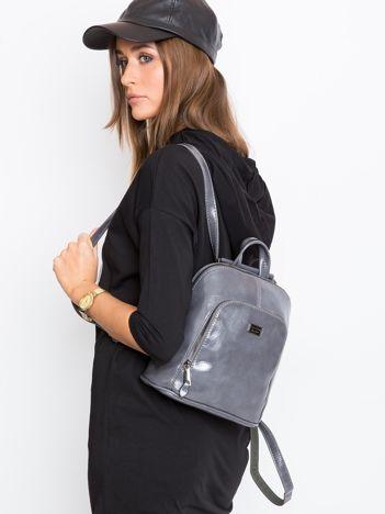 Szary plecak damski ze skóry ekologicznej