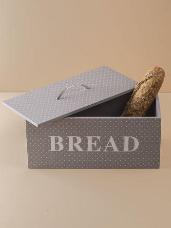 Szary pojemnik na chleb
