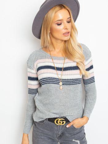 Szary sweter Attitiude