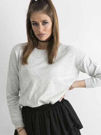 Szary sweter damski z suwakiem