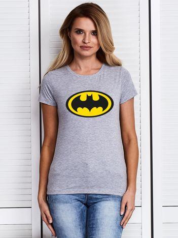 Szary t-shirt BATMAN logo