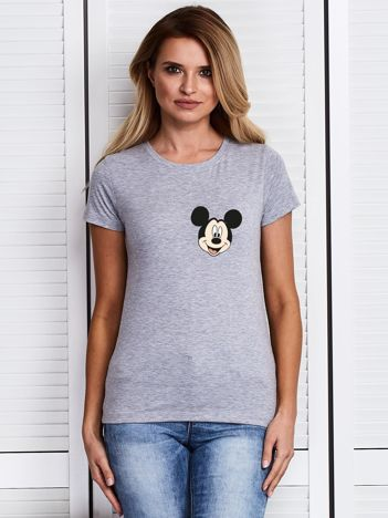 Szary t-shirt DISNEY z Myszką Miki