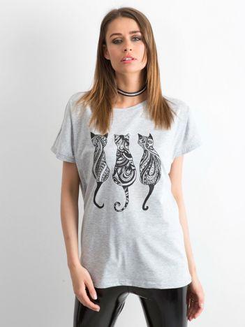 Szary t-shirt Kittens