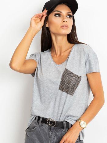 Szary t-shirt Shelly