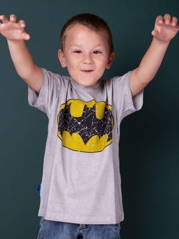 Szary t-shirt chłopięcy BATMAN