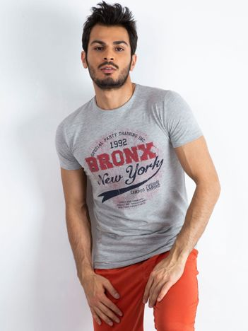 Szary t-shirt męski Bronx